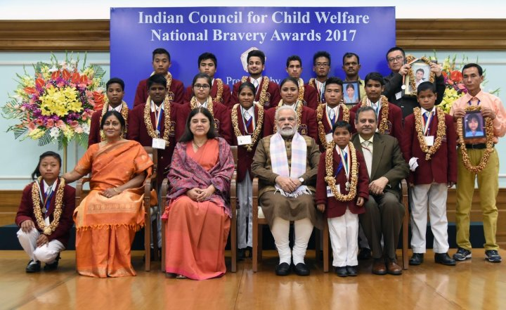 Prime-Minister-honored-brave-children-with-National-Bravery-Awards