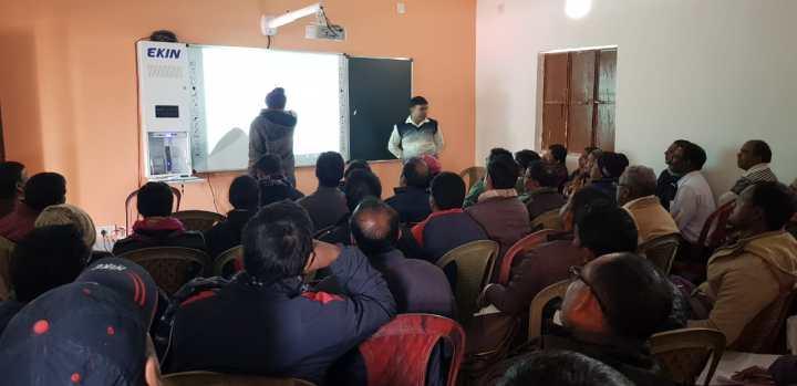 शिक्षकों को स्मार्ट क्लास संचालन का दिया गयाप्रशिक्षण 2 (1)